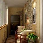 Картины с подсветкой на балконе