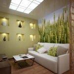 Зеленый декор зала