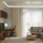 Угловой диван в маленьком зале
