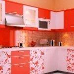 Кухня морковного цвета