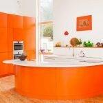 Оранжевый островок на кухне