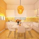 Кухня апельсинового цвета
