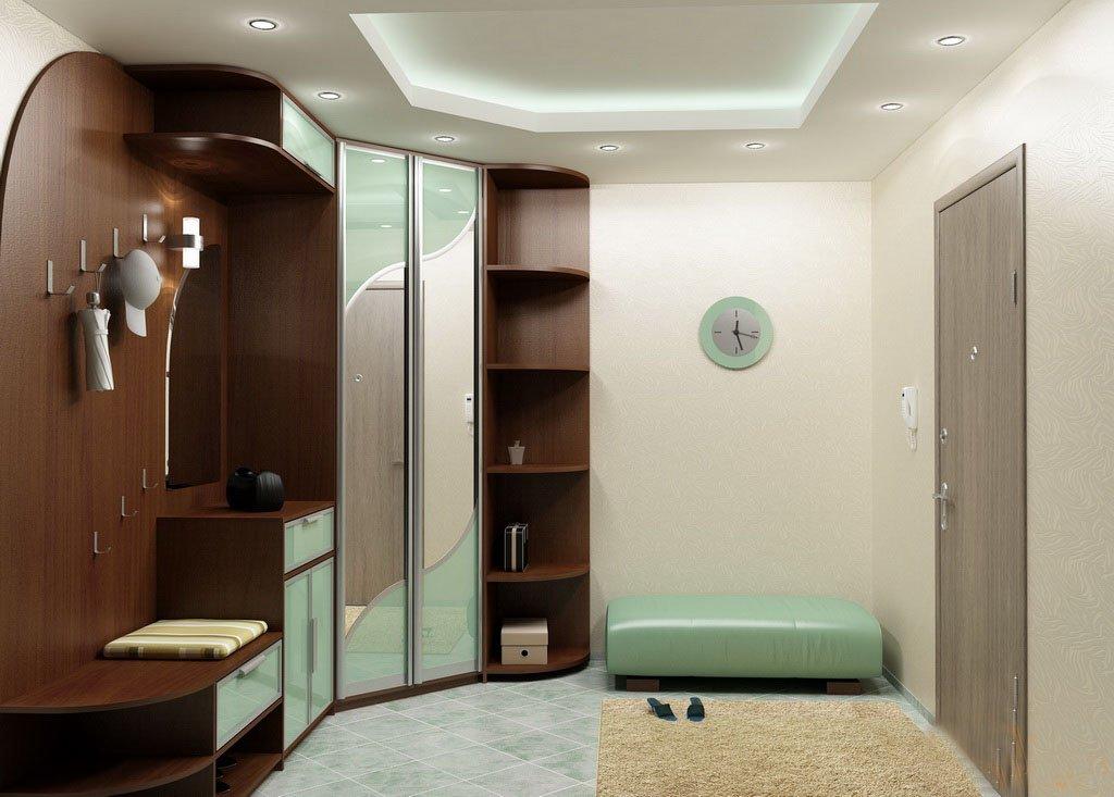 Оливковый декор шкафа-купе