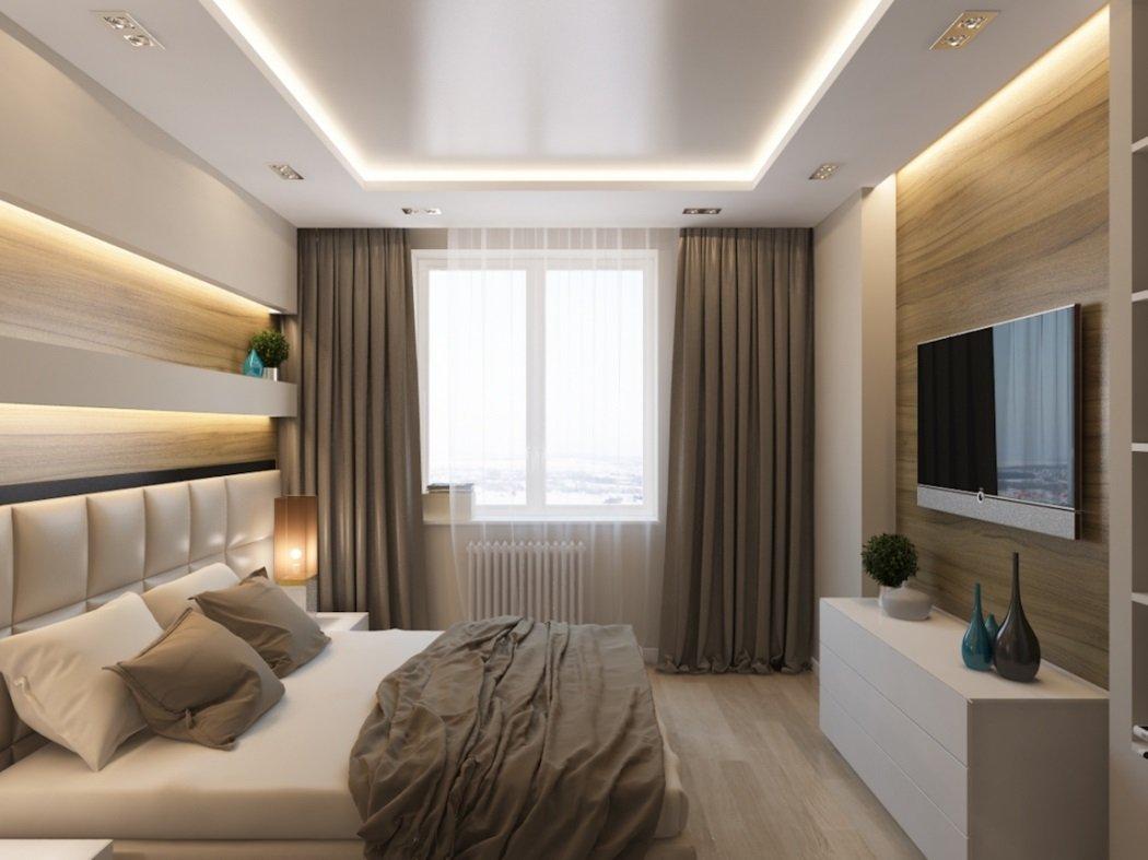 Стильный интерьер спальни в квартире