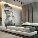 Stylish wall decor in the bedroom