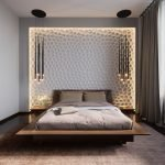 The original decor of the bedroom is 16 square meters. m