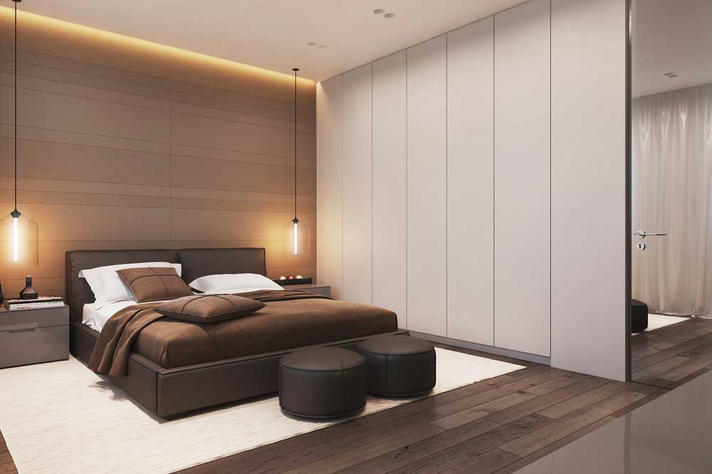 High-tech bedroom interior