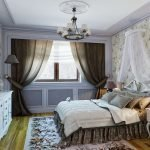 Classic bedroom decor of 16 square meters. m