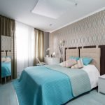 Blue textiles in the bedroom