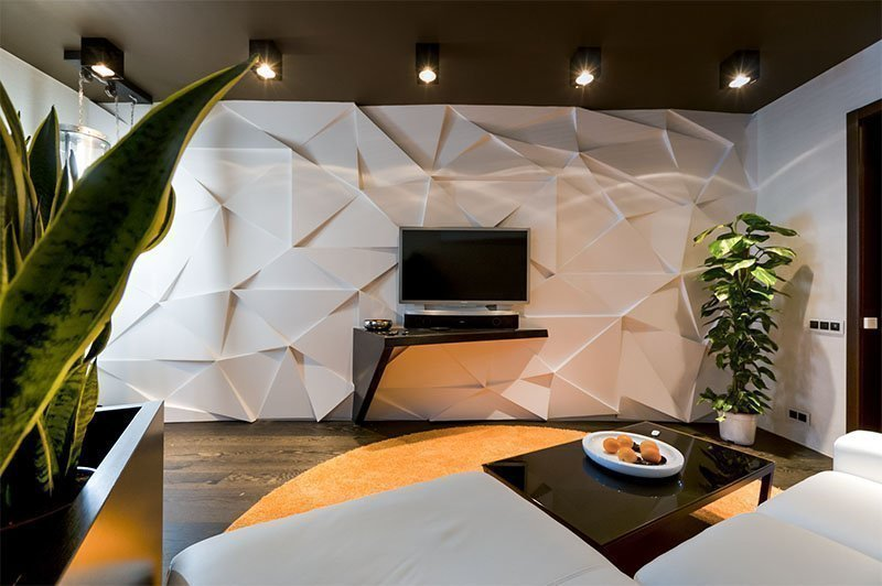 Рельефная отделка стен из гипсокартона