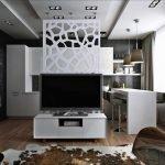 Квартира-студия 26 кв м в стиле модерн