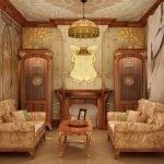 Декоративный камин в гостиной