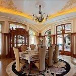 Потолок с подсветкой в столовой
