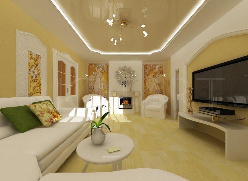 Светлая мебель в интерьере в стиле модерн