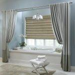 Роскошные шторы в ванной