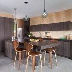 Мебель цвета венге на кухне