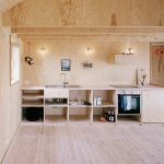 Кухня с фанерной мебелью