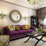 Классический интерьер гостиной в квартире