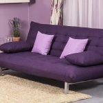 Компактный диван фиолетового цвета