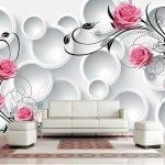 Объемные фотообои с розами