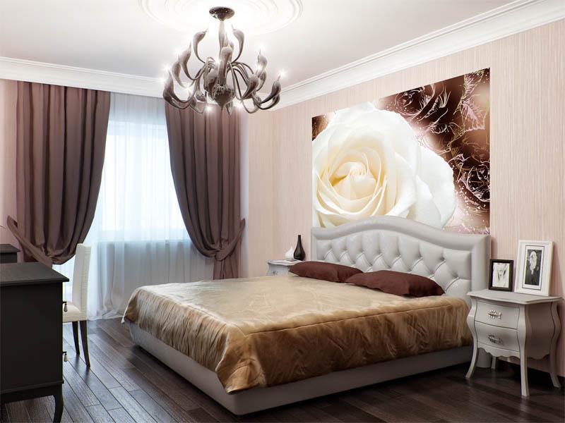 фотообои с розами в интерьере 30 фото примеров декора стен