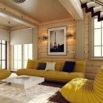 Желтая мебель в интерьере