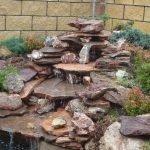 Композиция из камней и растений