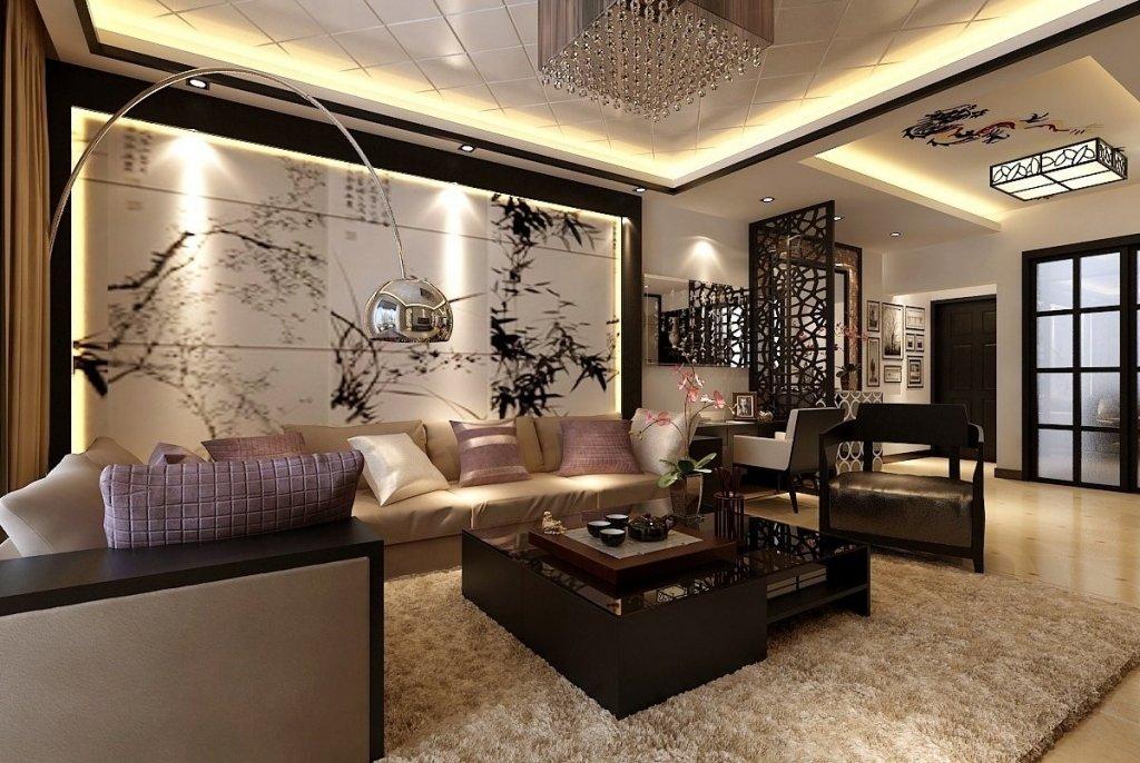 Китайский стиль в интерьере гостиной