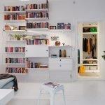 Высокие стеллажи для книг
