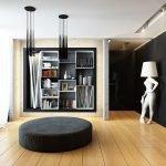 Дизайн гостиной с книгами