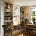 Книжный шкаф у окна