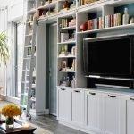 Книжный шкаф с тумбой для телевизора