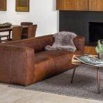 Небольшой диван из натуральной кожи