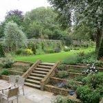 Сад с зоной отдыха
