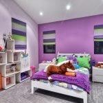 Декор детской в фиолетовых оттенках