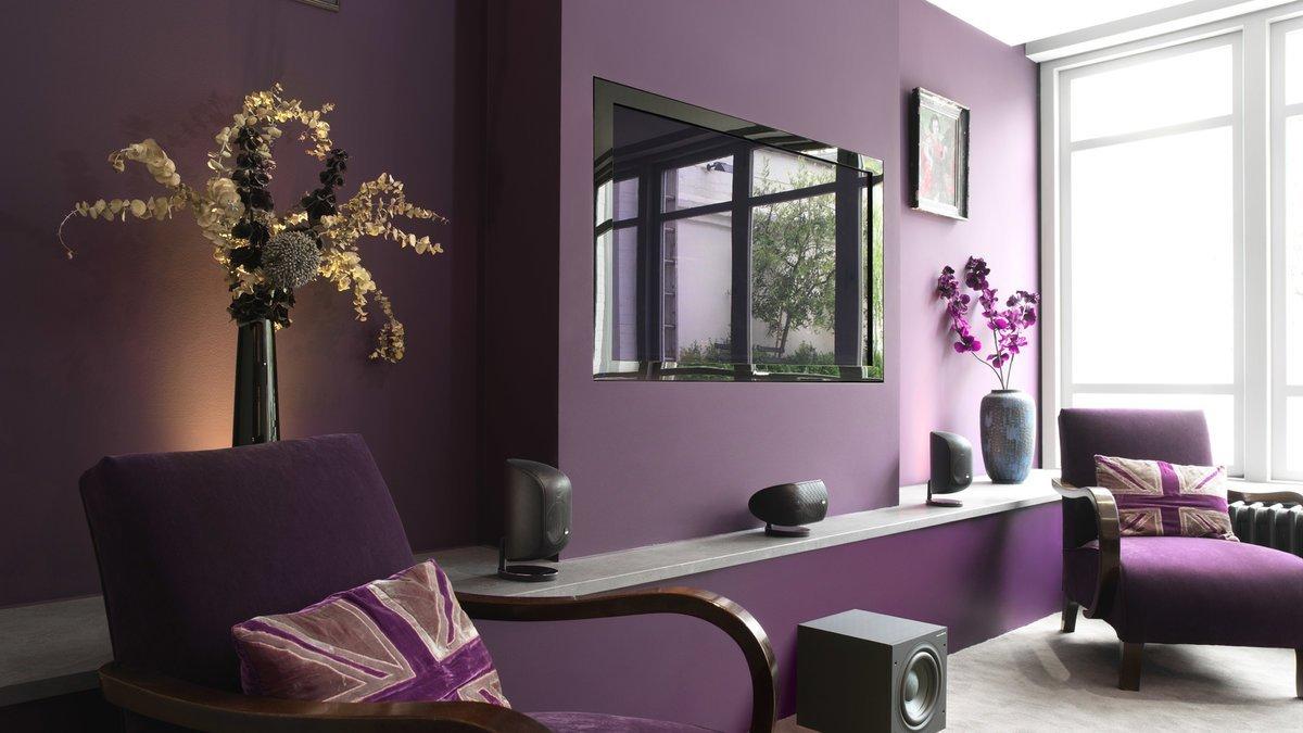 Фиолетовая мебель в тон интерьера