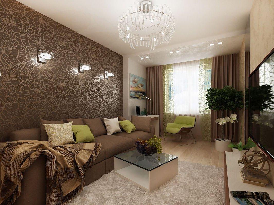 Интерьер квартиры с современными обоями