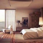 Декор спальни в теплых тонах