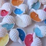 Раковины с разноцветным воском