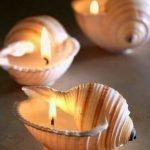 Ракушки со свечками