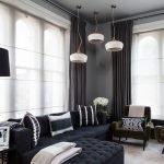Черно-белый декор гостиной