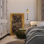 Декор спальни красивым текстилем