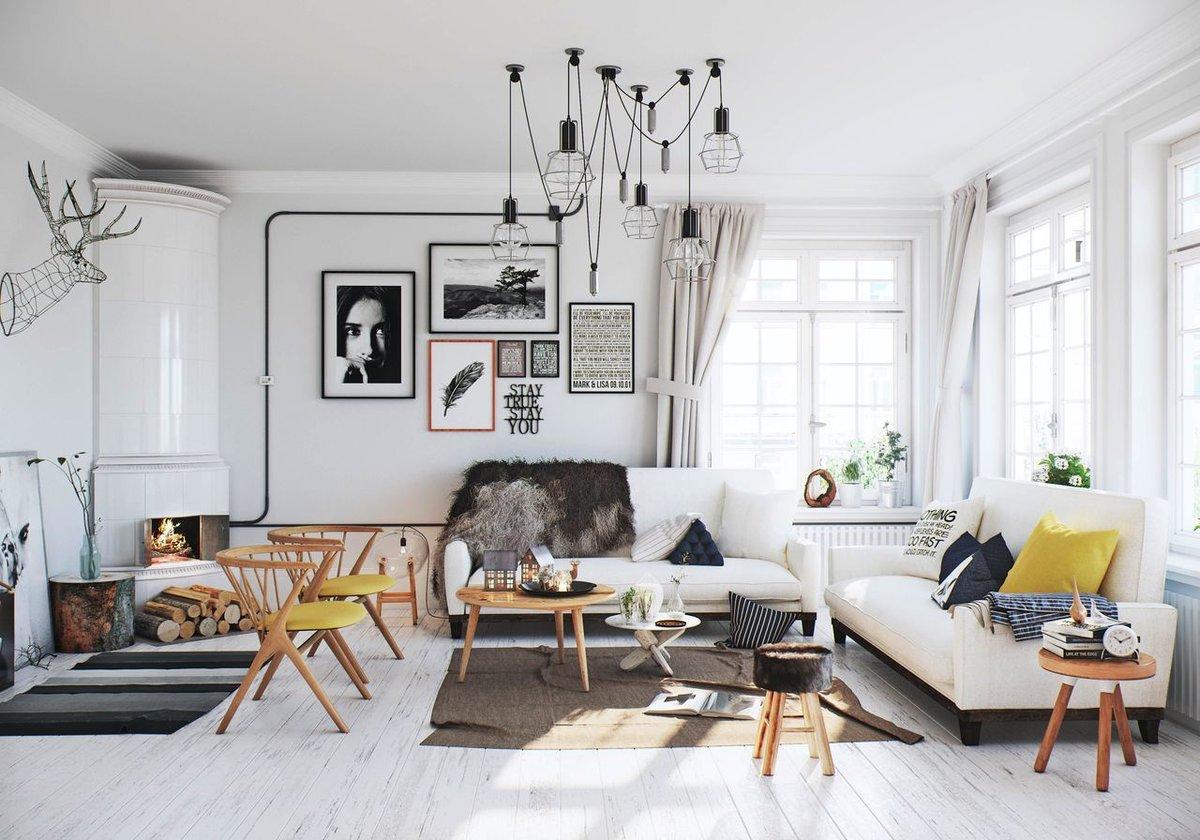 Декор комнаты в северном стиле