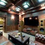 Кожаная мебель в гостиной