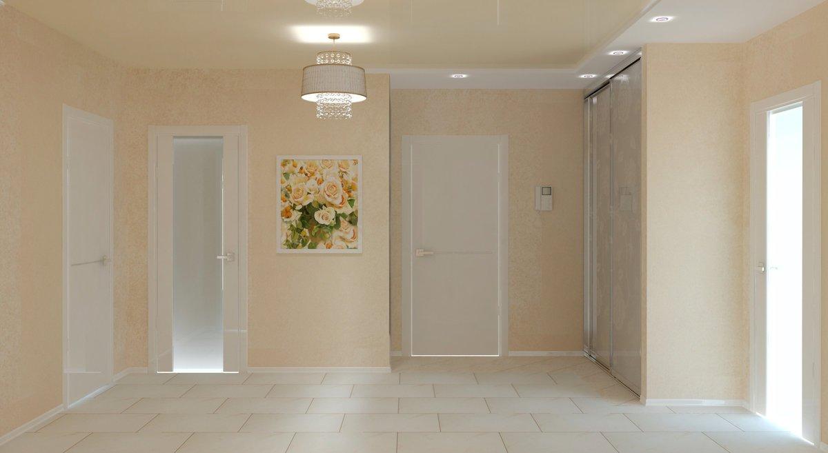 Сочетание светлых дверей и плинтусов в интерьере