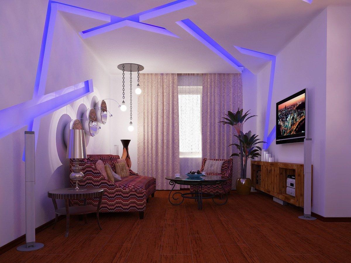 Светодиодная лента в спальне фото