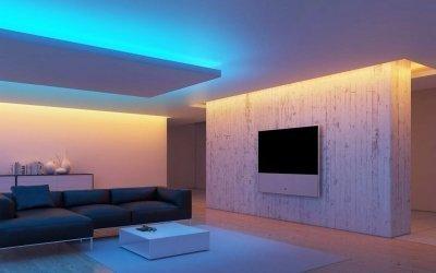 Светодиодная лента в интерьере +50 фото идей освещения