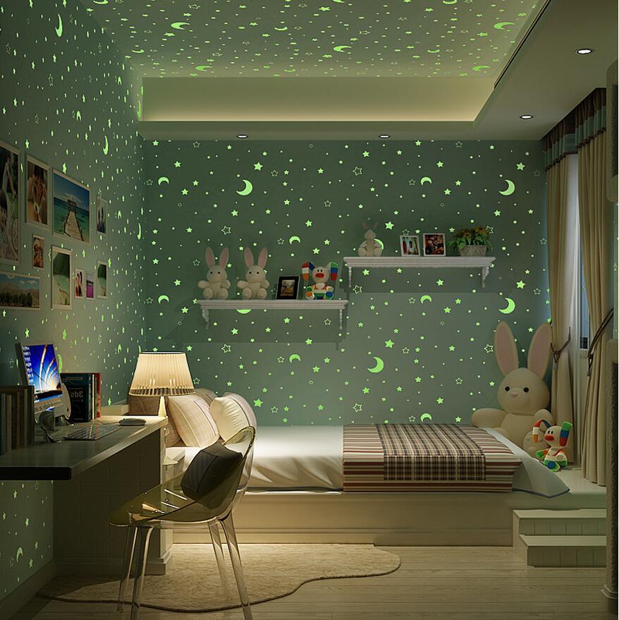 Звезды на стенах в детской