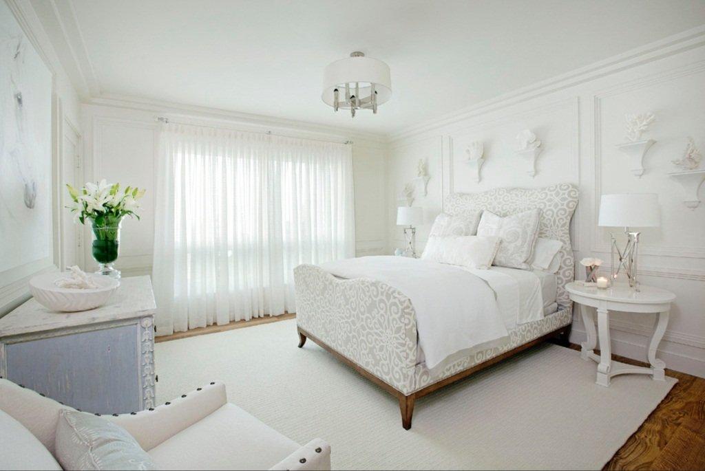 Белый дизайн спальни