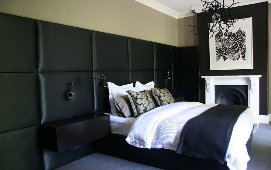 Роскошная черная спальня